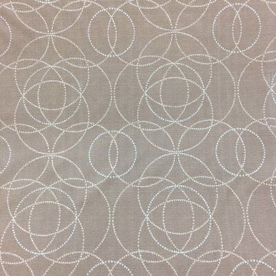 Brown Silver Circle Lattice Upholstery Vinyl Fabric By The Yard 54