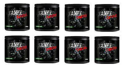 Tanked Smash Pre Workout 50 Servs Nitric Oxide Muscle Pump x 8 Tubs Lemon & Lime