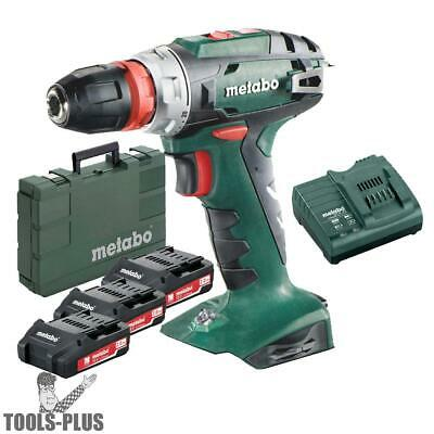 "Metabo US602217620 18V Quick 3/8"" Drill/Driver 3x 2.0Ah Batts + Charger Kit New"