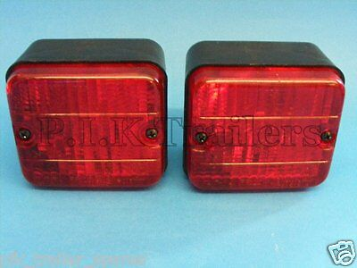 2 x AJBA Rear Fog Lamp Light 12v FR20 Erde & Daxara Trailer