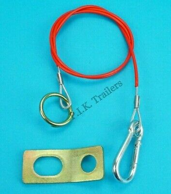 Breakaway Cable & Fixing Safety Bracket for Trailers, Horsebox & Caravans  #498