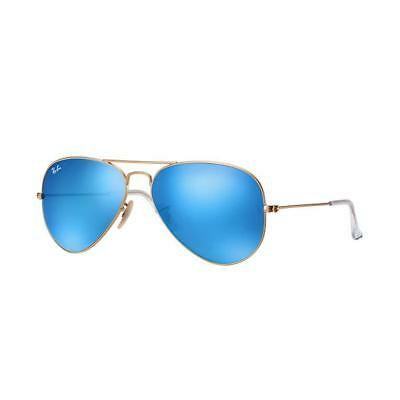 Occhiali Ray Ban Aviator Flash Lenses Oro Lenti Blu Flash