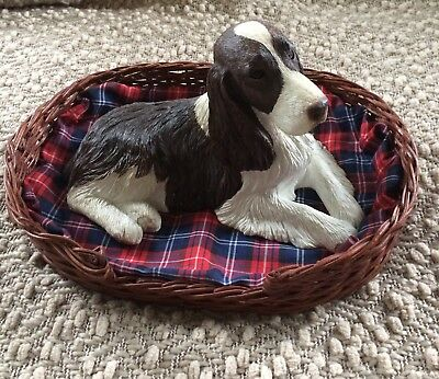 English Springer Spaniel Sandicast Collectible Figurine-Excellent Condition