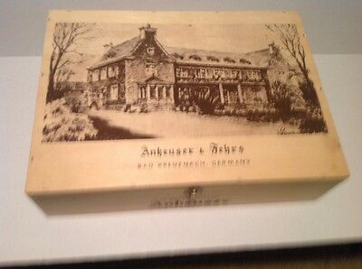 Wooden Wine Box Advertising ANHEUSER & FEHRS Bad Kreuznach, GERMANY