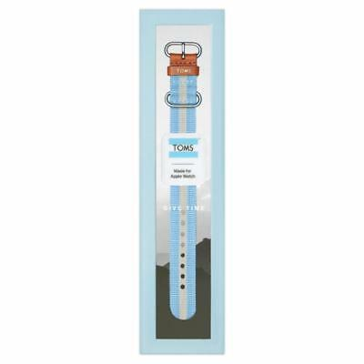 TOMS Apple Watch Band, Blue & White Stripe, 38mm - NEW In Box