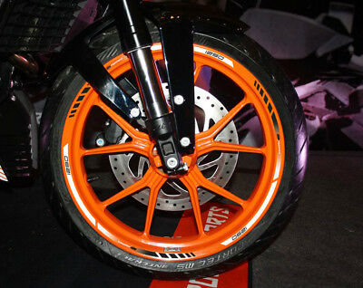 1290 SuperDuke motorcycle wheel decals stickers stripes super super duke orange