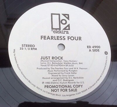 "Just Rock - Fearless Four - 1983 12"" - Electro Funk - Promo - Great peso"