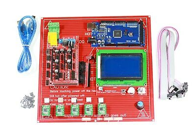 3D Printer Controller, RAMPS 1.4, MEGA  2560, A4988 with Heat Sink, 12864 LCD