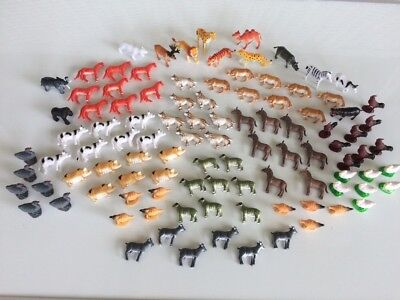 102pc Zoo Farm Kids Toy Animals Africa Play Set Miniature Lot Cow Pig Lion - Fun