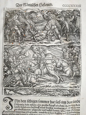 Livius History of Rome Post Incunable Woodcut Schoeffer (433) - 1530