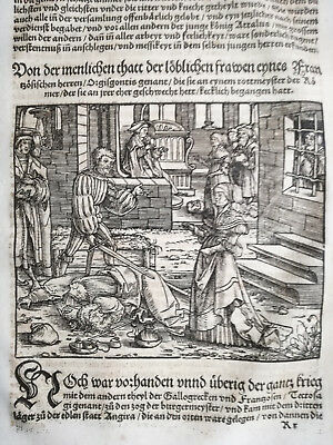 Livius History of Rome Post Incunable Woodcut Schoeffer (373) - 1530