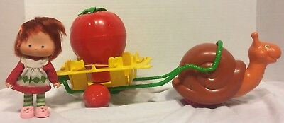 Vintage Strawberry Shortcake Snail Cart with Box