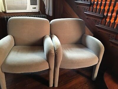 Pair of Mohair Covered Chairs