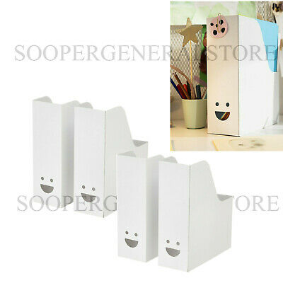 Ikea Fluns White Magazine Office File Organiser Holder Paper Storage Box Folder