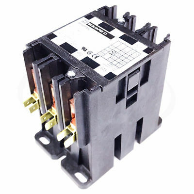 Square D 8910DPA53V02 Definite Purpose Contactor, 50FLA 65A Res 120V 3-Pole Open
