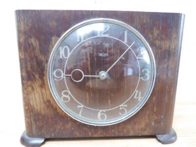 vintage mantel clock english made by smiths