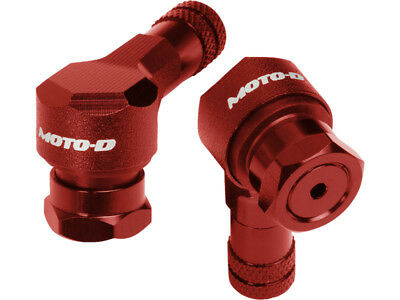 Moto-D Red 8.3mm 90 Degree Anodized CNC Aluminum Motorcycle Tire Valve Stem