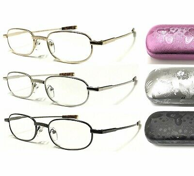 HM8 Superb Quality Metal Reading Glasses Vintage Style With Hard Case Value Pack