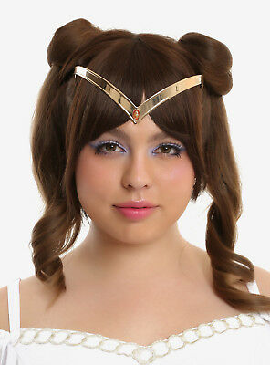 Sailor Moon Cosplay Tiara Replica Gold Tone Headpiece Licensed NEW in Package