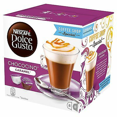 Nescafe Dolce Gusto Chococino Caramel Coffee Pods, Pack of 3 (Total 48 Capsules)