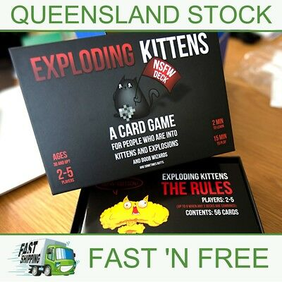 Exploding Kittens - ADULTS ONLY FUN! - NSFW Edition - AUS Stock