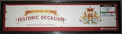 Carlton Draught Beer rubber backed pub drink mat runner for home bar collector