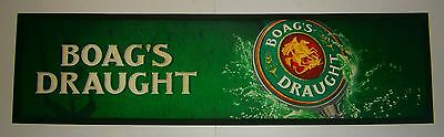James Boags Draught Beer rubber backed drink mat runner for home bar collector