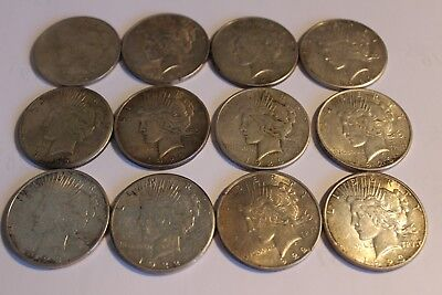 Set of12 Peace Silver Dollars 1922, 1923 Coins sets of 4 @ $120 or $300 for all