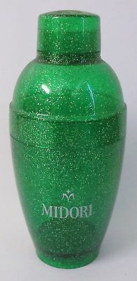 Midori brand new 3 piece glitter cocktail shaker for home bar or collector
