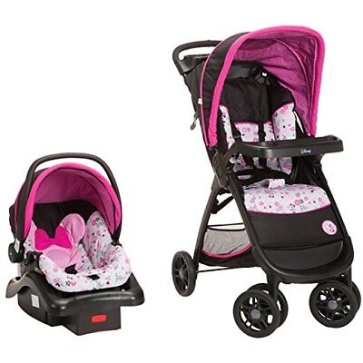 Disney Baby Infant Toddler Minnie Mouse Stroller Car Seat Combo Travel System
