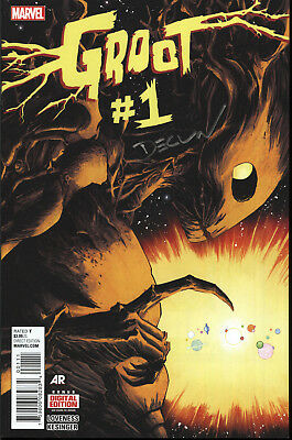 Groot #1 First Print Signed By Declan Shalvey Marvel Comics w/COA NM+