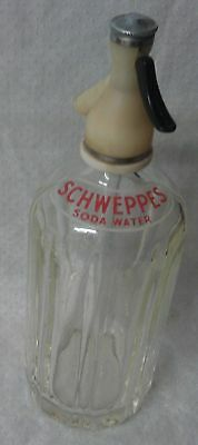 SCHWEPPES syphon siphon bottle large glass bottle for Bar Display only