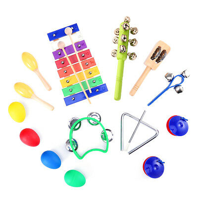 Musical Instruments Educational Set Kids Baby Toddler Percussion Band Toys Gift