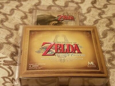 Legend of Zelda Twilight Princess Master Sword and Hylian Shield Nintendo NEW!