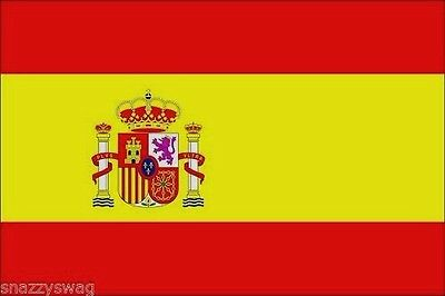 SPANISH NATIONAL FLAG OF SPAIN 5 x 3 FT LARGE GREAT QUALITY 75D POLYESTER NEW!!