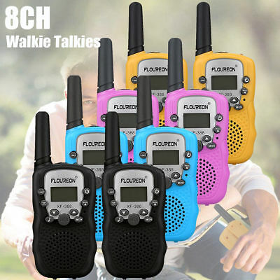 2X Mini Walkie Talkie For Child Kid Toy 5km UHF Two Way Radio Outdoor Interphone