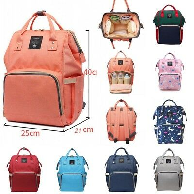 AU Multifunctional Baby Diaper Nappy Backpack Waterproof Mummy Changing Bag