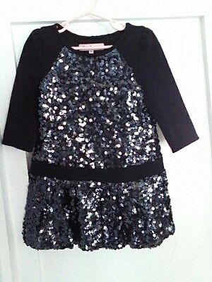 juicy couture girls  dress size 4/5 black with sequins