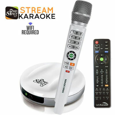 2018 Magic Sing E2 WiFi Streaming Wireless Karaoke Mic FREE 12000 English songs