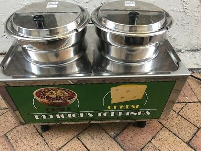 Benchmark 51072A Double 7 QT Chili-Cheese Food Warmer