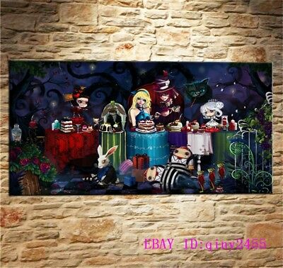 Alice in Wonderland,HD Print Art Home Decor Oil Painting on Canvas 48X24INCH