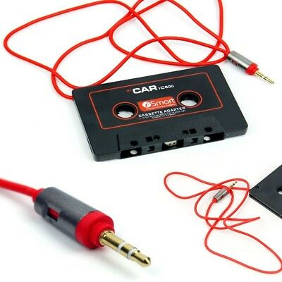 New Car Audio Tape Cassette Adapter 3.5mm AUX Jack Cable For iPod FM MP3 Player