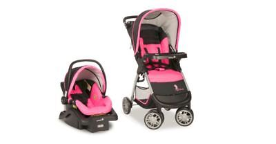 Baby Stroller Car Seat Amble Quad Travel System Safety 1st Disney Minnie Mouse