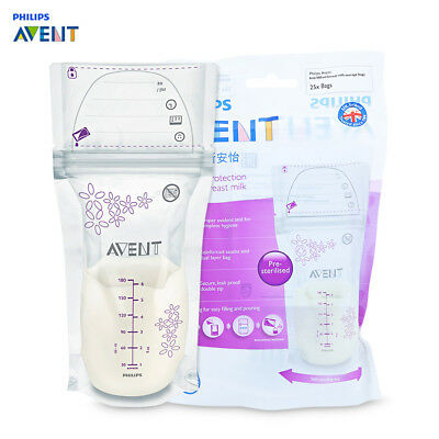 Philips Avent 25pcs 6oz / 180ml Baby Breast Milk Powder Storage BPA Free Bag