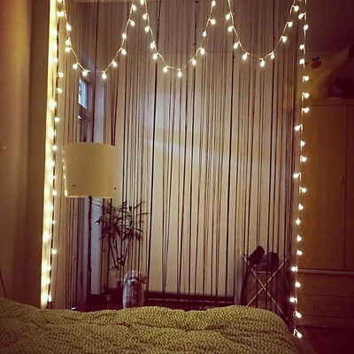 LED String Lights Warm White Ball Fairy Lights Waterproof Starry for Bedroom