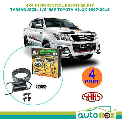 SAAS 4WD DIFF BREATHER KIT 4 Port suit TOYOTA HILUX 1997-2015 All Models