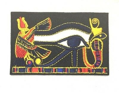 The Eye of Horus Egyptian Fairy Seeing Symbol Embroidered-Iron-On-Sew-On-Patches