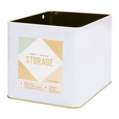NEW American Crafts - Wire System Metal Storage Bin Large Gold