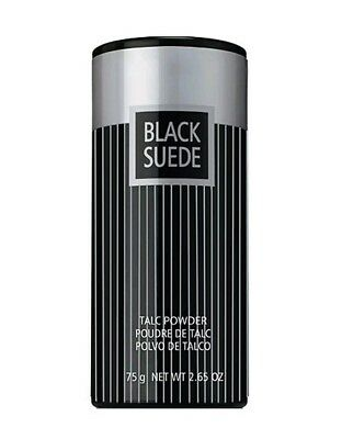 Black Suede Talc Powder New