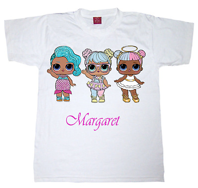 Girls Lol Doll Personalised t-shirt